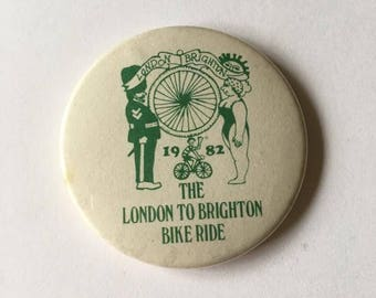 The london to brighton bike ride 1982 badge