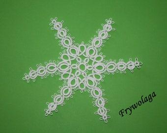 Shuttle Tatting Pattern Christmas Star by Frywolaga