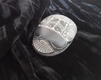 Large Scarab Beetle Amulet Ancient Egyptian FREE UK POSTAGE