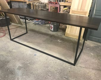 Steel and Reclaimed Wood Office Desk