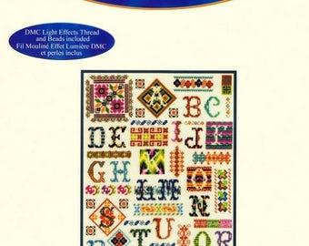 Patchwork linen Museum primer cross stitch Kit