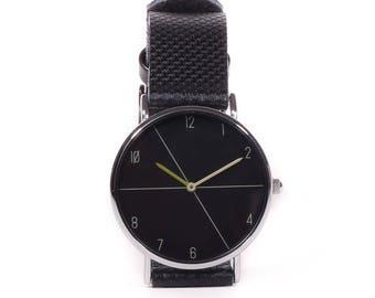 Shown in black on black-Black on black watch