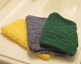 Crocheted dish cloths/assorted(3pk)