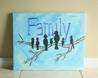 Family Tree Acrylic Painting