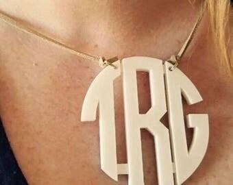 3 Initial Monogram Necklace