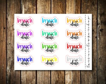 Brunch Date - Script Words - Fits Any Planner