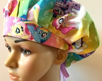 My Little Pony! Women's Surgical Scrub Hat, Bouffant Style