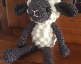 Crochet sheep, crochet lamb, sheep plushie, toy sheep, nursery decor, baby shower gift