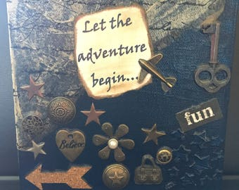 Let the Adventure Begin Mixed Media Canvas