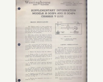 Tech-Lit Westinghouse Radio Service Manual - H-303P4