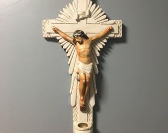 Chalkware crucifix