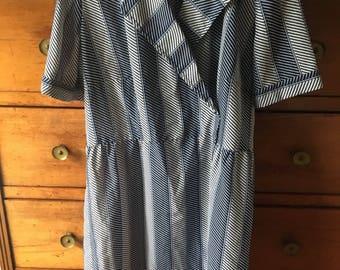 Vintage 70's navy dress size L