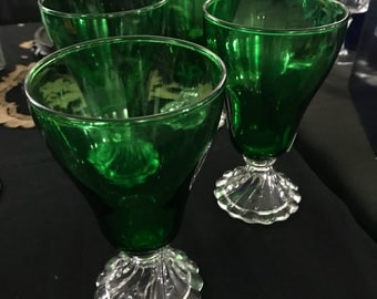 Vintage Emerald Green glass