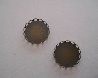 """Support cabochon """"lace"""" diameter 18 mm x 1"""
