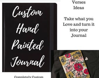 FULLY CUSTOMIZED: hard cover hand-painted prayer journal.