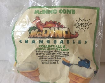 1990 McDonalds Happy Meal, McDino Changeables McDono Cone.