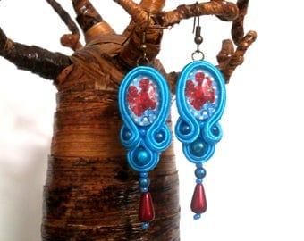 """Flower raver"" soutache earrings"