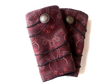 Version stir rust fabric arm warmers mittens