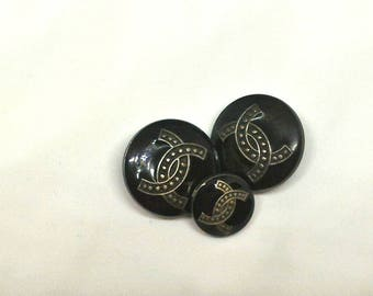 Chanel vintage blue Buttons 3
