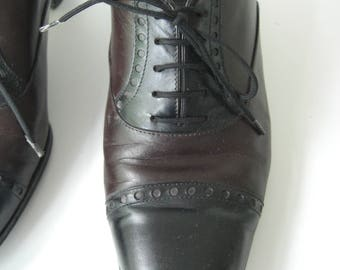 Vintage leather Oxford shoes/shoes/vintage/Vintage Leather size 37.5 broque (uk 4.5)