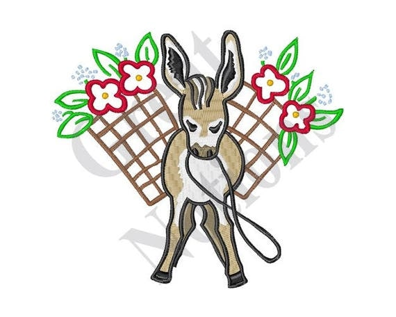 Mexican burro machine embroidery design