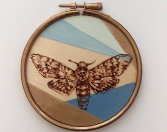 Wooden Wall Hanging- Death's Head Hawk Moth