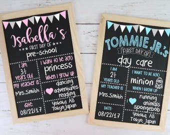 Reusable Chalkboard Sign | First Day of School | Back To School | Photo Prop