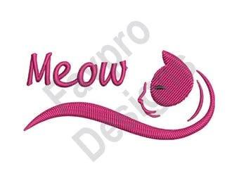 Meow - Machine Embroidery Design