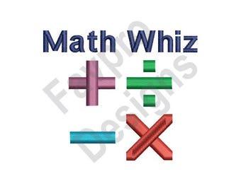 Math Whiz - Machine Embroidery Design