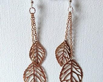 Leaf dangle earrings