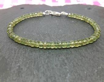 Aquamarine bracelet/moss aquamarine/green bracelet/march birthstone/march birthday gift/march bracelet/gemstone bracelet/mothers day gift.
