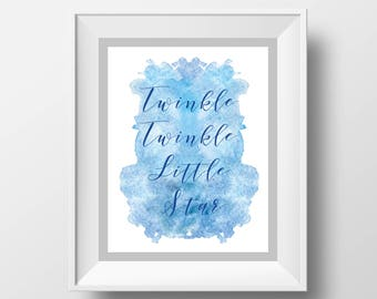 Twinkle-Twinkle Nursery Art Print - 8x10'' - Children wall art, nursery quote, typography, for this child -UNFRAMED