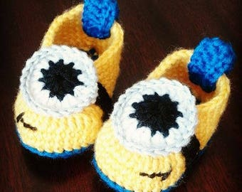Crochet Baby Shoes Minions
