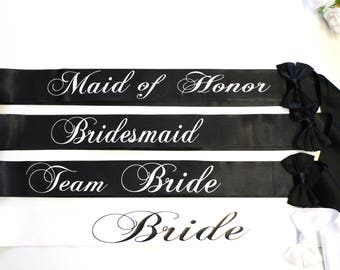 Bachelorette sashes Bridesmaid Sashes Bachelorette party - Hen party - Bride sash - Bridesmaid sash - Team Bride Sash - Weddings