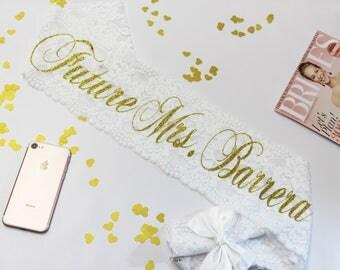 Bachelorette Sash - Bride Lace Sash - Bachelorette Party - Bridal Sash - Birthday Sash - Wedding Sash - Bride Gift