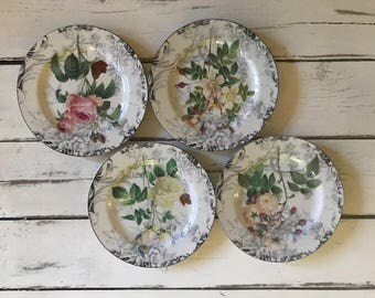 American Atelier Floral Plates (Set of 4)