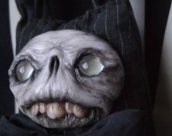 Creepy horror art doll gothic doll handmade monster doll