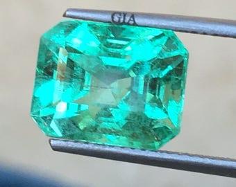 5.91ct Natural Emerald GIA