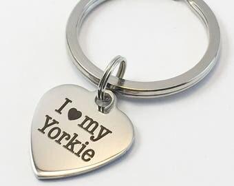 Yorkie keychain, yorkie, yorkie mom, yorkie key ring, yorkie gift, yorkshire terrier, yorkie lover, dog mom, valentines gift