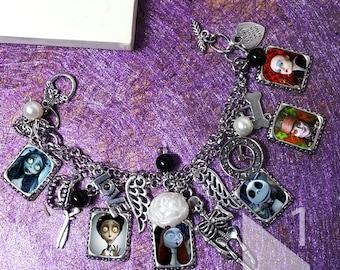 Tim Burton the Nightmare before Christmas corpse bride   Bracelet necklace