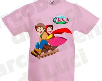 T-shirt for kids Heidi Arupusu no shōjo Haiji 80s cartoon characters with possible name of your boy girl 80s cartoon old style vintage retro