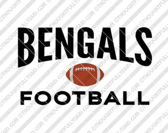 Bengals Football design, SVG, DXF, png, eps cut files, Silhouette, Cameo, Cricut, men, women, teens, high school, college, club