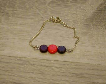 Chain bracelet silver round beads