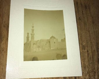 Antique Mounted photo: Mosque, Cairo Egypt late 1800s/early 1900s