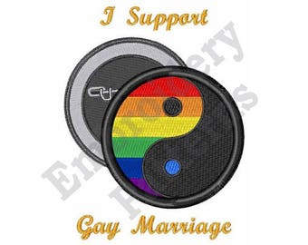 I Support Gay Marriage - Machine Embroidery Design