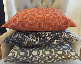 Set of 3 Cushion cover 50x50cm collection links and fins
