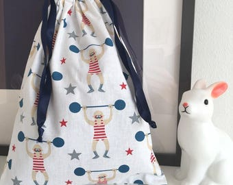 Bag pouch storage child / baby (pajamas, blanket and other treasures)