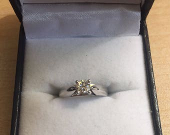 Victorian Transition Cut 1920's Diamond Solitaire Ring