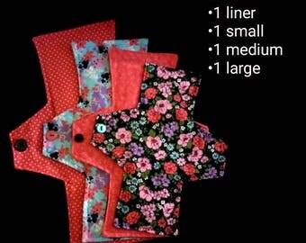 Cloth Pad Packs: Black & Red