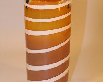 Gold Hand Blown Glass Vase